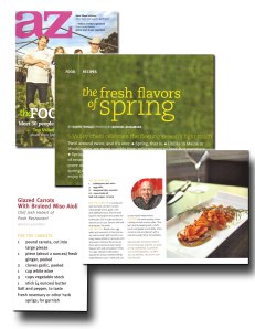 "AZ Magazine - ""Flavors of Spring"""