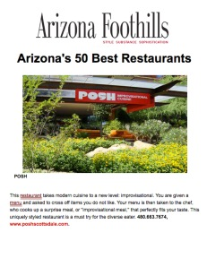 "Arizona Foothills - ""AZ's 50 Best Restaurants"""
