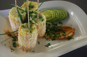 Elote with spiced ailoi